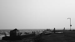 Dawn at Sewri Pier (B&W)