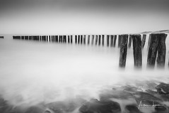 On The Edge (Alec Lux) Tags: aleclux beach breakwater cadzand groyne landscape longexposure minimal nature netherlands rocks sea seascape smooth water