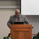 Dr. Ronald Bailey, Department of African American Studies speaks at the W.E.B. DuBois Lecture, 2014 with Wamba Dia Wamba