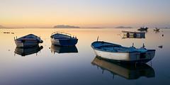 quiet (Giacomo Gabriele) Tags: boats sea reflections sky marsala sicily travel sunset water light italy seascape islands egadi favignana levanzo