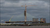 Building the bridge, Mersey Gateway, Runcorn (steeedm) Tags: runcorn mersey merseygateway bridge suspensionbridge construction engineering crane river wiggisland