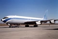 N198CA Boeing 707-131 at Mojave, CA in Oct 1981. Once belonged to TWA (johnyates2011) Tags: n198ca boeing b707 boeing707