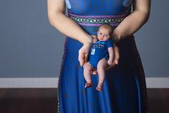 Day 3690 (evaxebra) Tags: wh wah miniature ash baby blackmilk infant photoshop manipulation handheld tiny small tardis onesie blue