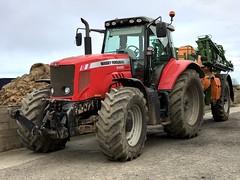 Our New Big Red Tractor - Farming Highlands Scotland (Dano-Photography) Tags: 2017 dano aberdeenscotland iphone7plus iphone amateur candid redtractor scottishfarms farmer farm tractor masseyferguson