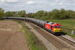 Tug on the tanks (mattjspencer) Tags: train railway trains freight dbcargo class60 tankers