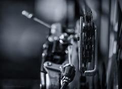 bicycle day (sure2talk) Tags: bicycleday bicycle detail closeup blackandwhite shallowdof nikond7000 nikkor85mmf35gafsedvrmicro 117picturesin201721bicycleday april2017amonthin30pictures
