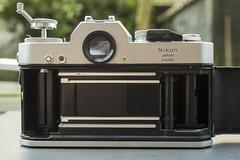 1972 Nikkormat EL (Arne Kuilman) Tags: 1972 nikon nikkormat nikkormatel slr classic retro camera filmcamera seals gate open rear back clean shutter sluiter sold