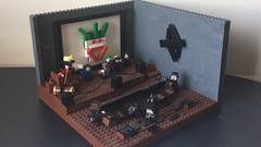 Joker's Abandoned Theater (PsychoBrick46) Tags: lego moc creation build superheroes joker batman darkknight battle