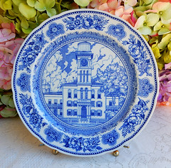 Vintage Wedgwood Yale College Sheffield Hall 1859-1931 ~ Blue White (Donna's Collectables) Tags: vintage wedgwood yale college sheffield hall 18591931 ~ blue white
