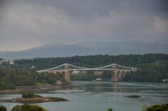 Menai Suspension Bridge (schwerdf) Tags: anglesey bridges britishisles britishislestrip greatbritain hdr menaisuspensionbridge regions tonemapped wales