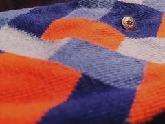 Checkered socks (Dr Pitch) Tags: macro socks orangeandblue macromondays