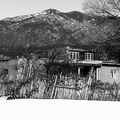 Taos Pueblo No. 14 (Mabry Campbell) Tags: 2016 december h5d50c hasselblad mabrycampbell newmexico santafe taos taospueblo usa unitedstatesofamerica adobe architecture blackandwhite building commercialphotography fineart fineartphotography historic image nativeamerican old photo photograph photographer photography pueblo squarecrop f28 december112016 20161211campbellh6a8658 100mm ¹⁄₁₀₀sec 2000 ef100mmf28lmacroisusm fav10 fav20