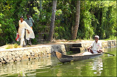 Life in Kerala_Shopping is done for the day (miguel IV) Tags: kerala environment backwaters boat