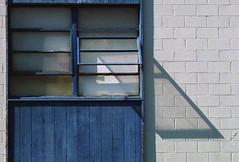 mild day (Wing Collar) Tags: openwindow cinderblock blue