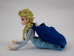 Medicom RAH Elsa 12 Inch Action Figure Posing in SQ Dress - Laying Down - Head and Back Bent Backward - Toes Touching Back - Right Side View (drj1828) Tags: medicom realactionheroes elsa frozen disney actionfigure 12inch deboxed purchase snowqueen sitting posing flexibility dress