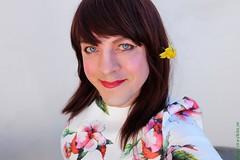 Spring selfie 1 (eileen_cd) Tags: selfie flower daffodil flowerdress redhead transvestite crossdresser tv cd