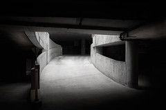 Between The Darkness (shutterclick3x) Tags: parking deck concrete moody frankloose