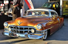 2017 Grand National Roadster Show (USautos98) Tags: 1951 cadillac caddy caddie coupedeville traditionalhotrod streetrod kustom leadsled grandnationalroadstershow gnrs pomona california