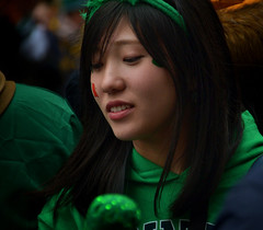 Black and Green (Owen J Fitzpatrick) Tags: ojf people photography nikon fitzpatrick owen j joe pretty pavement chasing d3100 ireland editorial use only ojfitzpatrick eire dublin republic city tamron woman female attractive beauty beautiful saint patrick st patricks day asian bow hairband visage candid candidphoto natural unposed candidphotography green paint cheek brunette look looking down black jumper día de san patricio holiday festival sincero offen laño sincer 坦率 candido 率直 thật thà candidportrait realism documentary photojournalism life