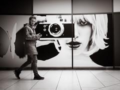 wrong.way (grizzleur) Tags: olympusomdem5mkii olympusm17mmf18 olympusmzuiko17mmf18 street streetphotography candid candidphotography candidstreetphotography candideyecontact eyecontact camera fun funny bw mono monochrome
