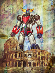 Grendizer Colosseum (http://www.agatti.com) Tags: scifi alternate reality uchronia robot mecha kaiju monster crossover anime manga fanart fan art ucronia sciencefiction atlas goldrake ufo grendizer princedukefleed actarus italy rome colosseum coliseum flavianamphitheatre roman forum domination standing rules rulez 4 aprile 1978 rete2 rai april debut esordio ufoロボグレンダイザー infanzia childhood kid dreams memories ricordi memorabilia