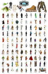 Vintage Kenner Star Wars Poster (skipthefrogman) Tags: skipbro custom cast bootleg art toy action figure star wars vintage kenner fun poster complete set all 100 full collection checklist creature droid robot animal character alien 70s 80s 1977 1985