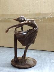 Dancer in wax (Bryn Oh) Tags: virtual art wax mould bronze sculpture process