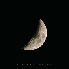 Crescent Moon (RTA Photography) Tags: moon astrophotography rtaphotography cropped nikond7000 tamron70300