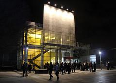 Outside the Yerba Buena Center for the Arts (JB by the Sea) Tags: sanfrancisco california february2017 sanfranciscomuseumofmodernart sfmoma financialdistrict night yerbabuenagardens urban