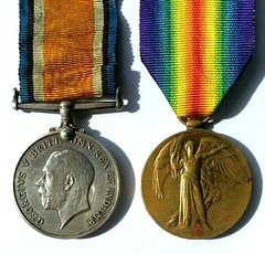 WWI Sevice Medals of Private Charles Henry Knill MM (1897-1958) (DevonKnill) Tags: mesopotamia colaba india charleshenryknill 6thdevons 26th militarymedal devonshireregiment wwi ww1 worldwar1 worldwarone firstworldwar greatwar uk england devon ilfracombe knill familyhistory genealogy ancestry ancestors britishwarmedal victorymedal allied britisharmy campaign service tree britain mumbai bombay