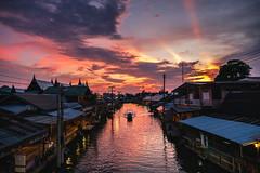 Venice of the East (kiatthaworn khorthawornwong) Tags: thailand thai amphawa sun sunset boat market sky water canal village travel holiday floating landscape nature beauty amazing fujifilm xpro2 xf1655 fujinon flickrtravelaward