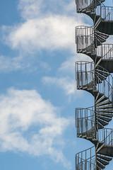 Staircase to... (Pete Noah) Tags: karlstad löfbergslila staircase bluesky clouds