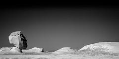 White desert, Egypt (pas le matin) Tags: nb bw monochrome noiretblanc blackandwhite travel world voyage desert egypt egypte afrique africa whitedesert sahara stone pierre sandstone limestone rock head canon 7d canon7d canoneos7d eos7d