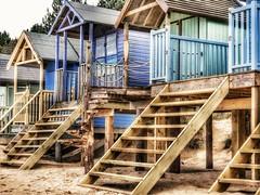 Tread Carefully (DeanoNC) Tags: norfolk wellsnextthesea sand wood beachhuts steps
