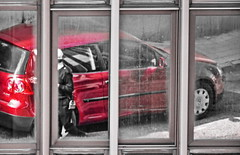 Ancona, Marche, Italy - Reflex and Reflections 1 by Gianni Del Bufalo CC BY-NC-SA (bygdb - Gianni Del Bufalo (CC BY-NC-SA)) Tags: reflex specchio riflessi riflessioni reflection car windows finestre vetri abstract