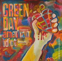Green Day American Idiot Pop Art album cover painting by Howie Green (Howie Green) Tags: green day american idiot pop art album cover painting howie