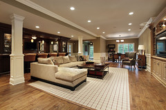 Basement with bar (acthomeservices) Tags: architecture basement chair carpet couch decor decorate design dwelling elegant estate family fireplace fixtures floor furnishings furniture hardwood home house interior lamp leather lighting living luxury modern ottoman residence residential real relax rug room sofa suburban suburbs table upscale warm window wood