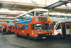 Stockport depot. (steve vallance coach and bus) Tags: orj91w mcwmetrobus gmbuses stockport