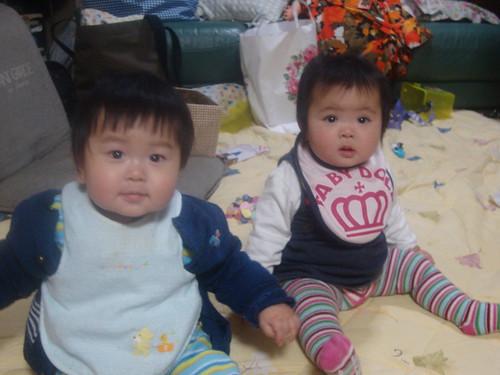 Youngest members of the family Yujiro & Yua