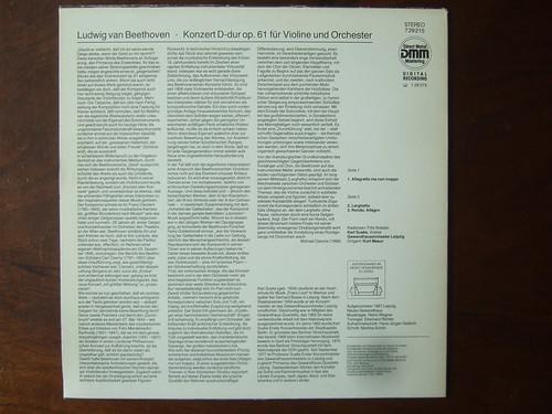 Backside Beethoven - Concerto op.61 for Violin & Orch. - Karl Suske, Gewandhausorchester Leipzig, Masur