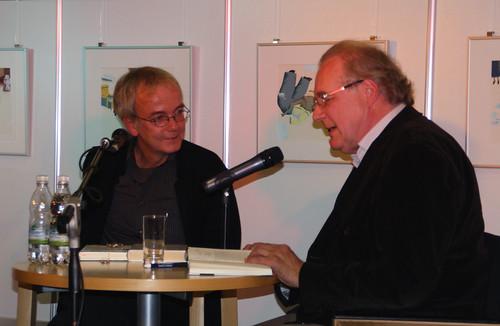 Jens Sparschuh und Sten Nadolny im Gespräch in Cottbus