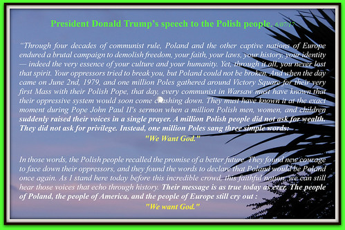 President Donald Trump's speech to the Polish people. 06/07/2017