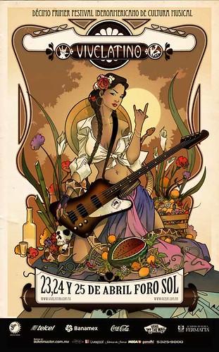 Cartel Oficial Vive Latino 2010