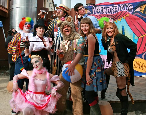 Mel with Entertainers at at Lagunitas Beer Circus