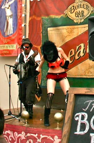 Gorilla Mask Stripper at Lagunitas Beer Circus