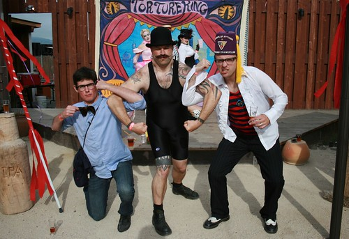 Tim, Strongman and Fred at Lagunitas Beer Circus