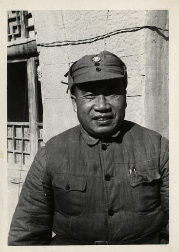 General Chu Teh, once a life-loving Szechuan landlord, who was educated in Germany and in his middle age gave up hos career as a Nationalist officer and went over to the Communists. Together with Mao Tse-tung,