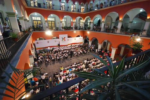 Ceremonia en el Centro Infantil de Educación Musical.