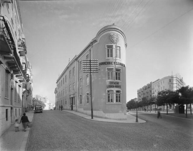 Correios - Lisboa Norte, Rua das Picoas/Avenida Cinco de Outubro (F.S. Cordeiro, 1924-39)