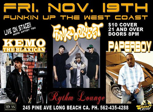 UPCOMING EVENT WITH KEMO THE BLAXICAN + SPECIAL GUESTS..